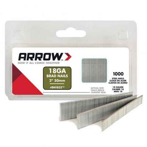 Arrow BN1832 50mm 1000 Adet Profesyonel Kesik Başlı Çivi