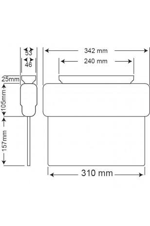 Arsel Arselite Eko AE-1020-L Sıva Üstü Floresanlı Acil Çıkış Yönlendirme Armatürü Şebekeden Yanan LC 19 LED 120 Lümen