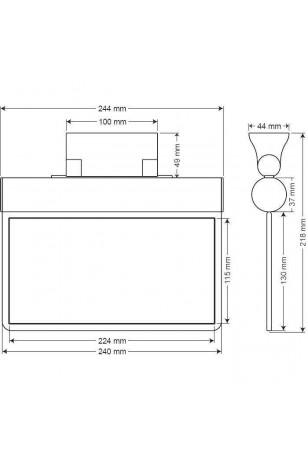 Arsel Sfs SFS24-L Acil Çıkış Yönlendirme Armatürü Şebekeden Yanan 11xF LED