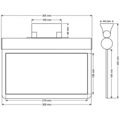 Arsel Sfs Sıva Altı SFS30-3-L-SA Acil Çıkış Yönlendirme Armatürü Sürekli ve Kesintide 180 Dak. Yanan 11xF LED