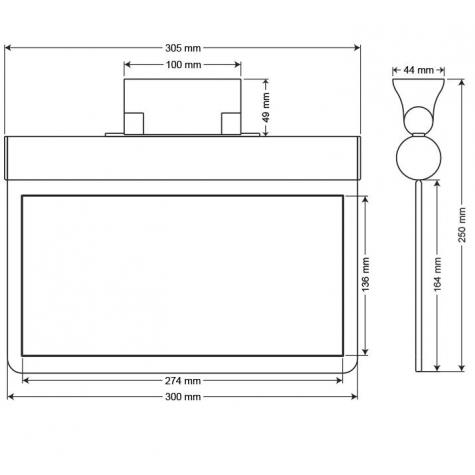 Arsel SFS30-L Acil Çıkış Yönlendirme Armatürü Şebekeden Yanan 11xF LED