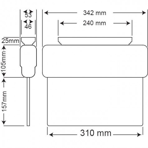 Arsel Arselite Eko AE-1223-L Sıva Üstü Ledli Acil Çıkış Yönlendirme Armatürü Sürekli ve Kesintide 180 Dak. Yanan 19 LED 120 Lümen