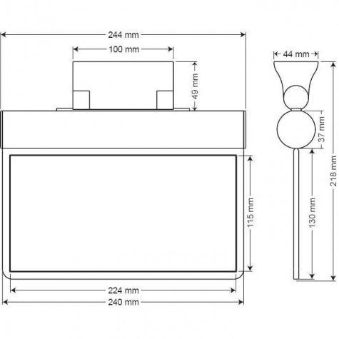 Arsel Sfs SFS24-3-L Acil Çıkış Yönlendirme Armatürü Sürekli ve Kesintide 180 Dak. Yanan 11xF LED
