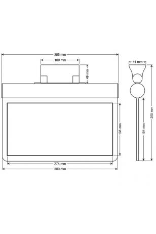 Arsel Sfs SFS30-3-L Acil Çıkış Yönlendirme Armatürü Sürekli ve Kesintide 180 Dak. Yanan 11xF LED