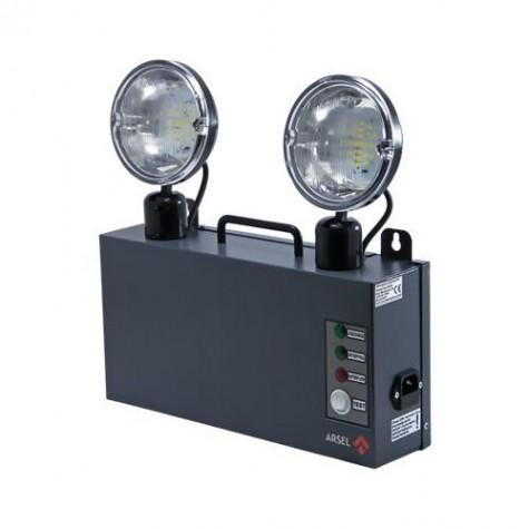 Arsel Versalite LED VSL214/3 Acil Aydınlatma Armatürü Kesintide 180 Dak. Yanan 2X500 Lümen